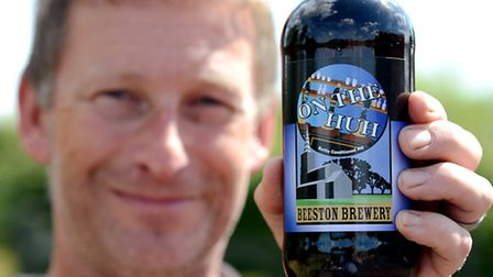 Beeston Brewey's Mark Riches with his award winning ale On the Huh, which won the gold in the strong