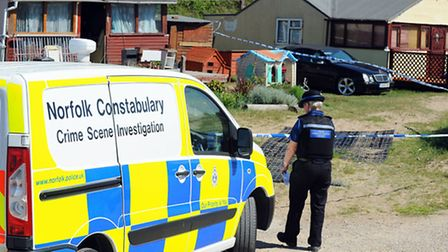 Police at a property on The Marrams in Hemsby.Picture: James Bass