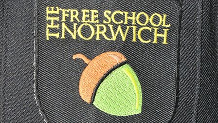 Lauren Duff models the new uniform for pupils of the Free School Norwich.; Photo by Simon Finlay
