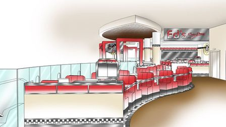 Artist's impression of Eds Easy Diner. Photo: Supplied