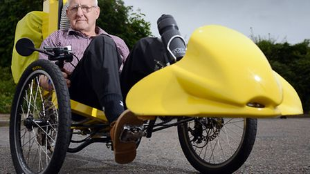 John Phillips from Shipdham, is doing a 250 mile ride around the Norfolk-Suffolk border in his custo