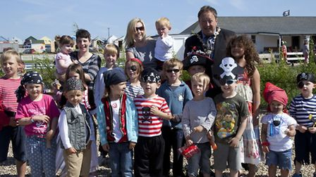 Children enjoy a pirates party at Southwold boating lake in aid of Sole Bay Care Fund.Pictures is So