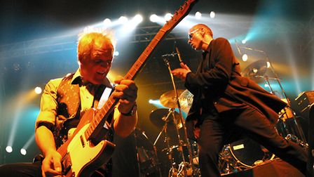 Dr Feelgood in action with guitarist Steve Walwyn to the fore.