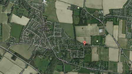 Googlemap of Ormesby Saint Margaret, near Great Yarmouth