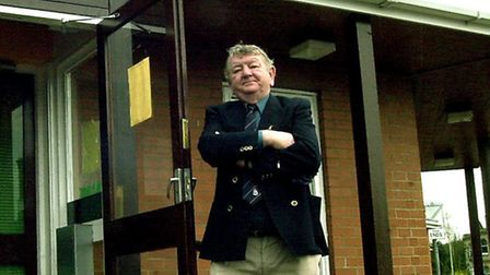 REG SILVESTER OUTSIDE THE BURY ROAD DOCTORS SURGERY IN BRANDON. PICTURE ANDY ABBOTT 6/4/2001 EADT 7