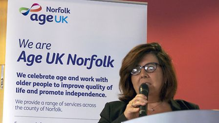 Silvia Stefanoni, the interim chief executive officer of HelpAge International, speaks at the Age UK