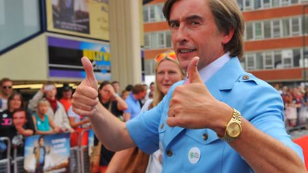 Steve Coogan attended the world premiere in Norwich as Alan Partridge.