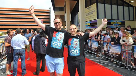 The Alan Partridge film premier at the Hollywood Cinema where fans and the press turned out in force
