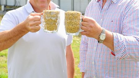 Yare Grain near Cantley.( L to R) Grain store manager Andrew Dewing with senior director Andrew Alst