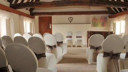 Inside the wedding room at the Hanse House. Picture: Peter Rye.