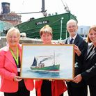 A new care home being built in Gorleston is to be named the Lydia Eva Court.(L TO R) Colleen Walker,