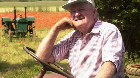 Ted Teat, 73, with fond memories of each of his 52 tractors he is to sell at Hingham.<copy - Mike Po