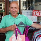 Ivan Smith outside his Sheringham fashion shop, which he is closing after 32 years. Photo: Karen Bet