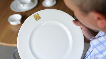 Townsend's Auction Gallery will soon be auctioning part of Hitler's dinner set. Picture: Ian Burt