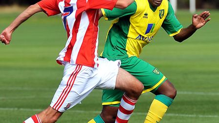 Seb Bassong played the full 90 minutes in Norwich City's development league defeat at Aston Villa on