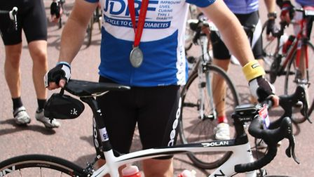 Dean Phillips from Wymondham who took part in Ride London