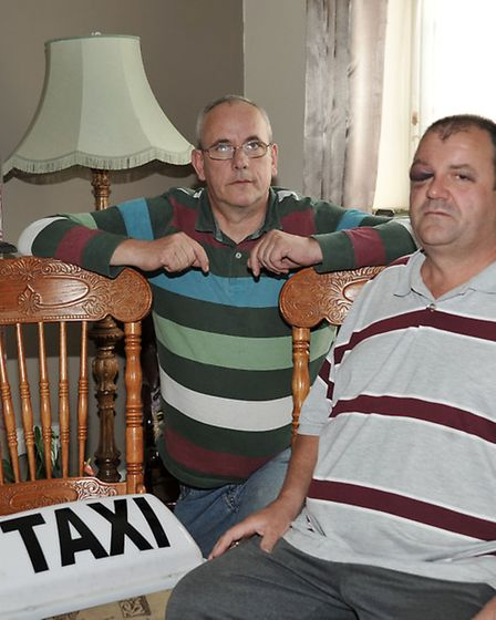Cllr Dave Patrick and WisbechTaxi driver Tony Slabber.