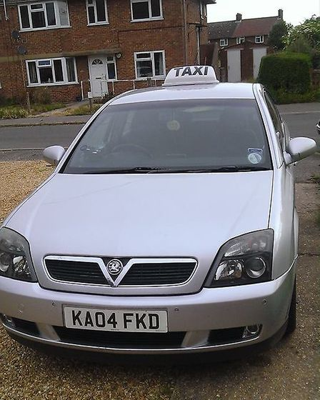Tony Slabber's taxi - photo taken before the attack and robbery