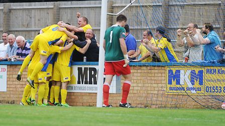 Lynn were celebrating another stirring fightback at Barwell thanks to goals from Dan Jacob (2) and G