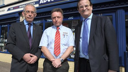 Robin Twigge, (left) regional chairman of the Federation of Small Businesses East Anglia is joined b