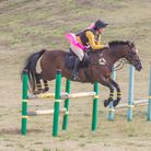 Davina Cattermole wins at the jumpcross charity competition at Aldeby. Picture: Kay Balls Photograph