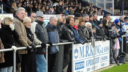 Sections of the Crown Meadow faithful have been urged to be more positive. Picture: Nick Butcher.