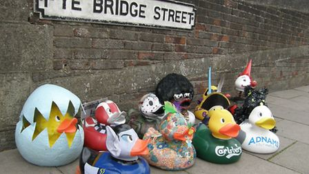 Some of the entries for the 2013 Grand Norwich Duck Race