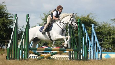 Amy Russell competse at East Flegg Riding Club show. Picture: Chloe Reade.