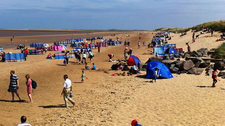 Brancaster beach has been the scene of large gatherings of teenagers during the Hunstanton Lawn Tenn