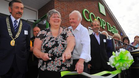Official opening of the East of England Co-op store on Laundry Lane, Thorpe St Andrew. Neighbours of