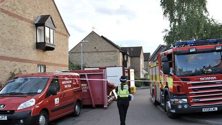 House fire at Kingsmead Court Littleport. Picture: Steve Williams.