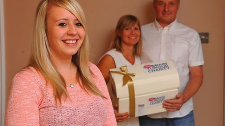 Saying thank you by asking guests at their wedding to donate to Brain Tumour Charity, Grant Crosby a