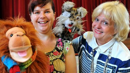 Helen McDermott and BC meet Karyn Roe and Jaffa Ape at the opening of the Norfolk bone and joint app