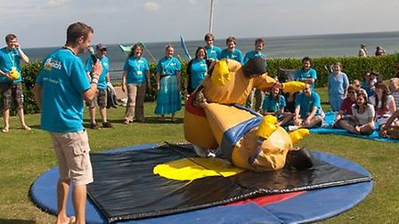 One of the games at last year's Sheringham BeachLife outreach event.