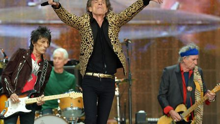 Mick Jagger from The Rolling Stones performs on stage during Barclaycard British Summer Time in Hyde