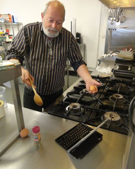 John Ellerby who hopes to teach IT and cooking