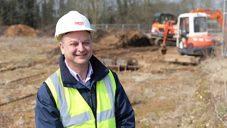 Norfolk Hospice Tapping House chief executive Richard Shaw at the new site in Hillington. Picture: I