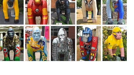 The final ten GoGoGorillas up for the vote in the grand final.