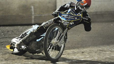 Stars' racer Nicklas Porsing was on the gas last time out against the Hammers. Picture: Ian Burt