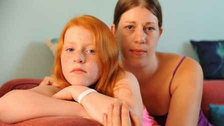 Zoe Shrimpton, with her daughter Harmony Shrimpton-Allsop, 12, who has Tethered Cord Syndrome, and i