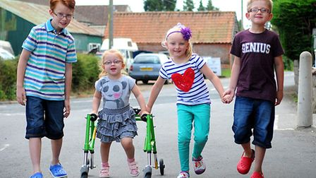Three siblings, left, Josh, 9, Ellie, 5 and Ben, 7 are organising a cake stall and tombola to be hel