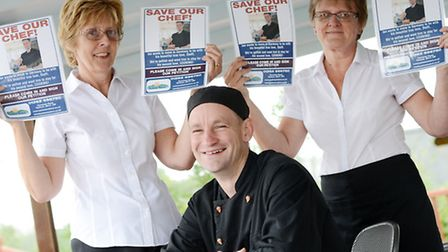 Ian Hanser, Chef at Yaxham Waters is leaving to move to Germany to live with his girlfriend Stephani