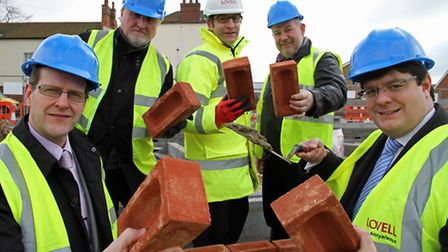 Victory Housing chief executive John Archibald (left) at a new homes scheme in North Walsham. Pictur