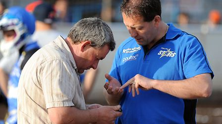 Buster Chapman, left, and Rob Lyon are likely to need their calculators this week. Picture: Matthew