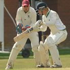 Swardeston against Woolpit in the EAPL league. Swardeston wicket keeper Stephen Gray catches the bal