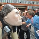 """The Alan Partridge film premiere at Hollywood Cinema where the star signed the GoGoGorilla """"Alan"""" fo"""