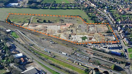 Former HL Foods factory site in North Walsham from the air. Photo: BIDWELLS