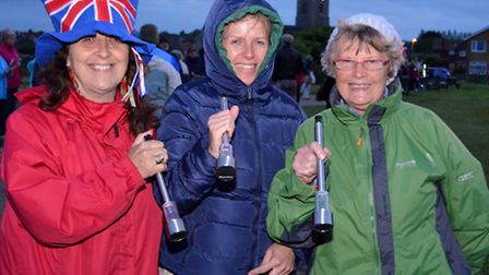 Solar Stroll along Pakefield cliffs, Walkers with their solar lanterns. PICTURES: Mick Howes
