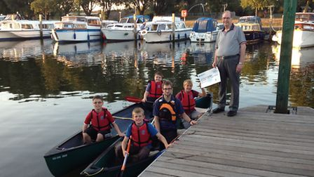 Peter Curd after his weight loss with the Beccles Sea Scouts