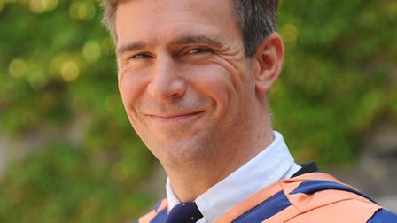 Actor Jack Davenport at the UEA to receive an honorary degree. Picture: Denise Bradley